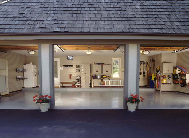Garage storage units photo gallery more space place for Garages and workshops